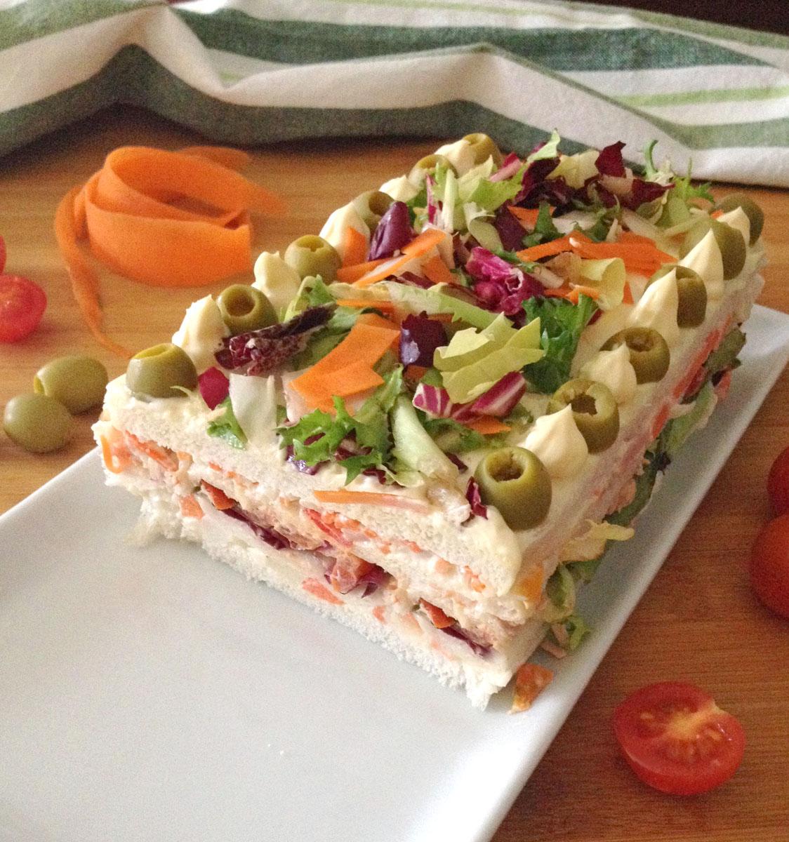 Torta di tramezzini salata ricetta