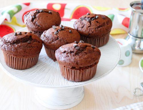 Muffin al cioccolato con gocce di cioccolato
