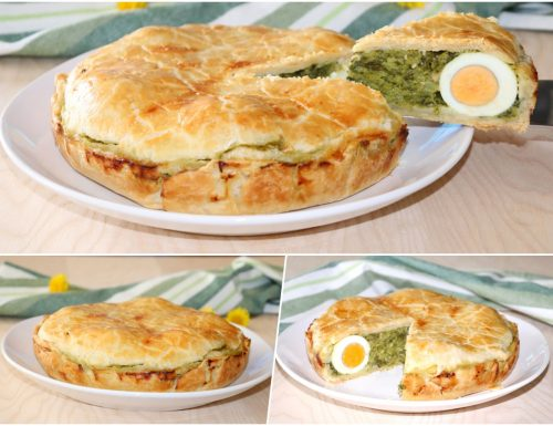 Torta salata cime di rape e uovo sodo