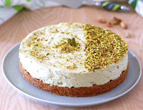 Cheesecake al pistacchio senza cottura