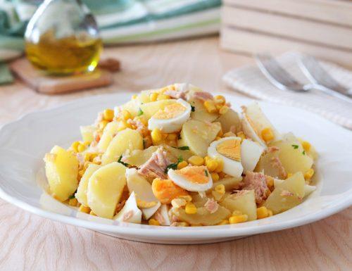 Insalata di patate tonno e uova sode