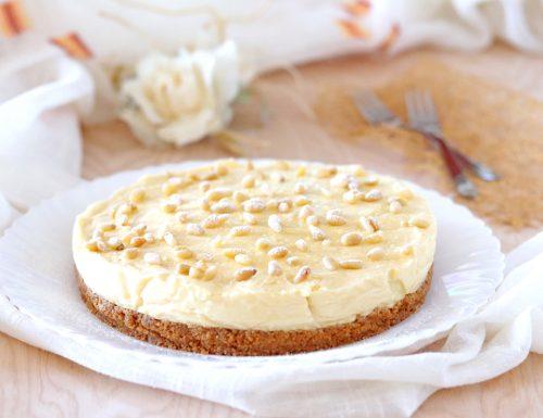 Cheesecake torta della nonna senza colla di pesce