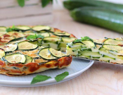 Torta invisibile di zucchine ricetta salata