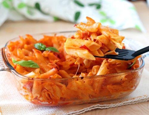 Pasta al forno con pomodoro e mozzarella