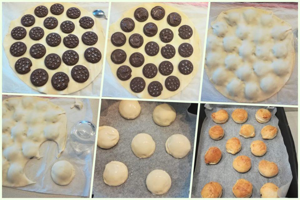 Bomboloni finti ripieni di nutella e pan di stelle istruzioni