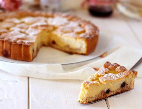 Crostata crema ed amarene sciroppate