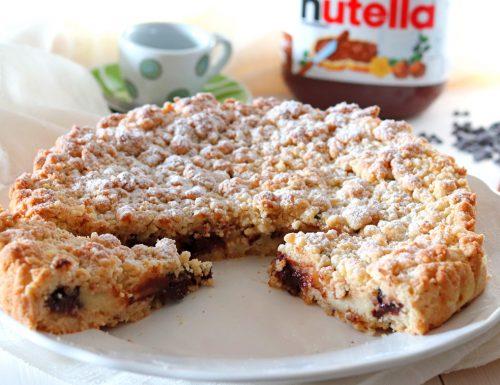 Torta sbriciolata con crema e nutella