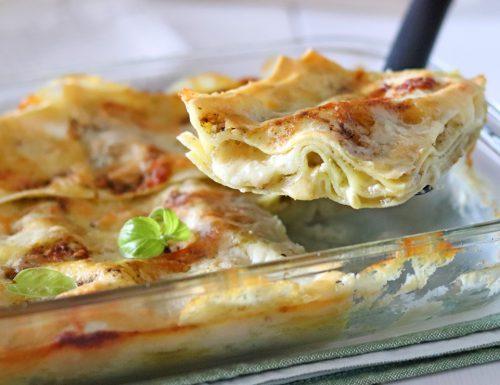 Lasagne con pesto e besciamella