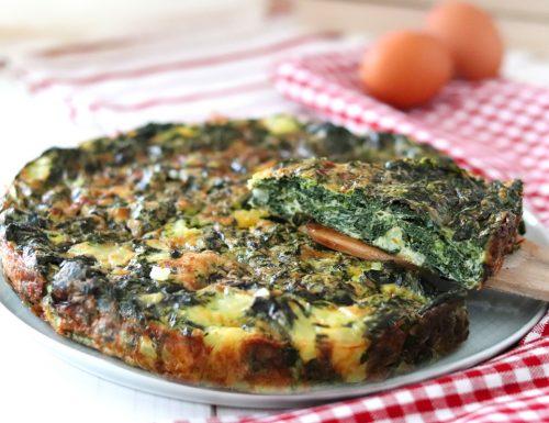 Frittata al forno con spinaci e patate