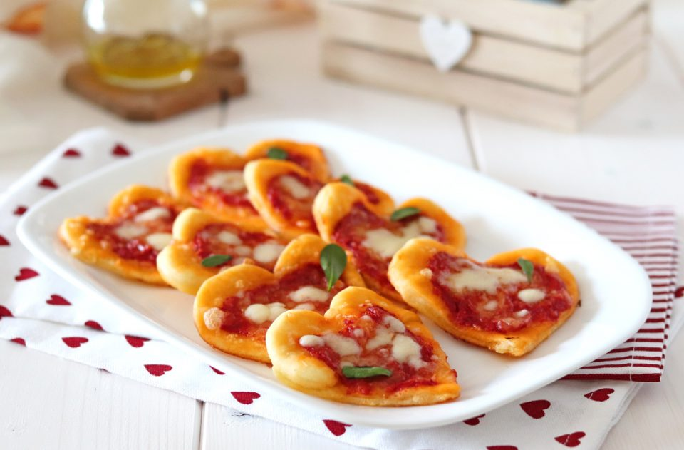 Pizzette a cuore per San Valentino