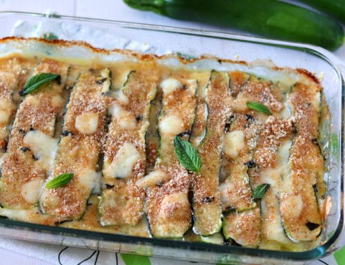 Parmigiana bianca di zucchine e menta