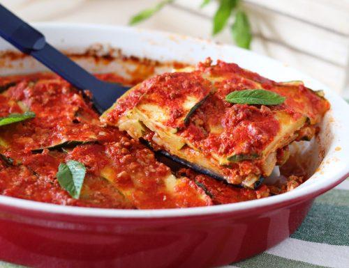 Parmigiana rossa di zucchine a crudo