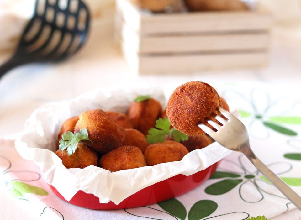 Polpette di purè di patate e ricotta