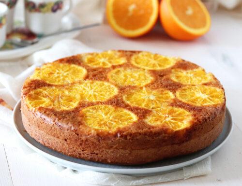 Torta rovesciata all'arancia senza burro