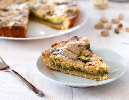 Crostata con crema di pistacchio e mascarpone