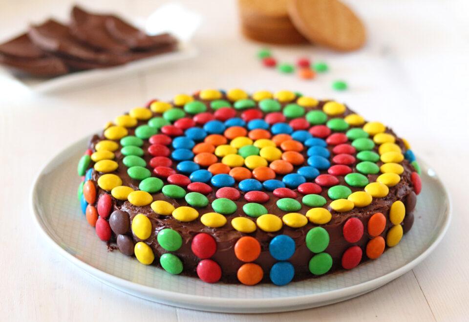 Torta smarties al cioccolato