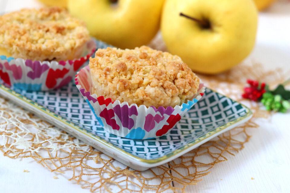 Muffin di frolla crema e mele
