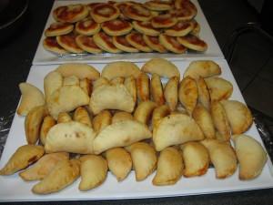 Calzoni ripieni e pizzette al forno
