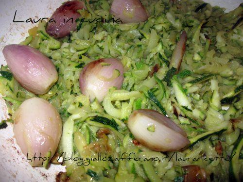 Zucchine e scalogno