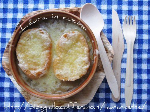 Ricetta :Zuppa di cipolle all'emiliana