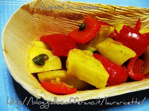 Peperoni e patate,ricetta facile