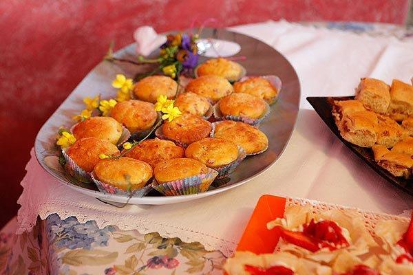 Muffin al formaggio.mortadella