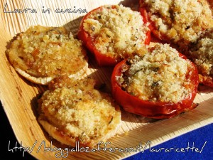La Panure ,le cipolle di testa e i pomodori