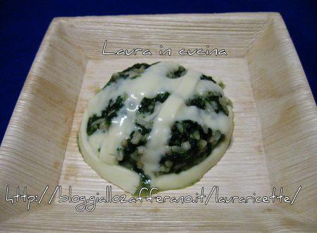 Riso,grano saraceno e miglio agli spinaci e formaggio