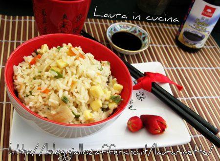 Riso alla cantonese con verdure