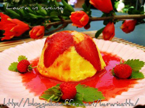 Semifreddo alla crema di zabaione con fragole fresche,ricetta dolce