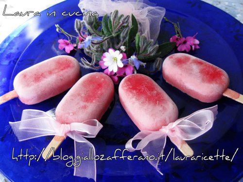 Mini sorbetti alla fragola,ricetta homemade