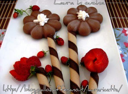 Fiore gelato al cioccolato