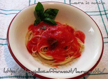 Cucina crudista:spaghetti al pomodoro
