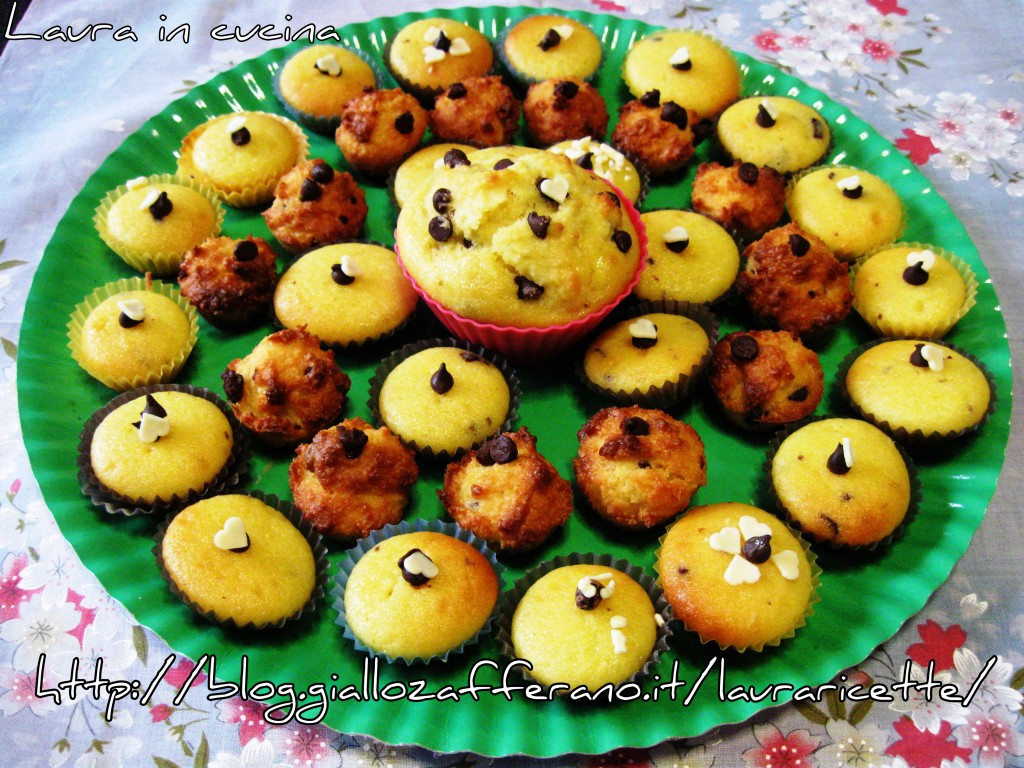 Muffins con gocce di cioccolata ,semplicissimi!