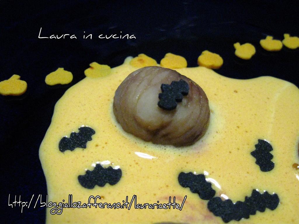 Zabaione con castagne ed amarene