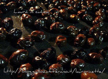 Olive nere condite ed infornate,ricetta homemade