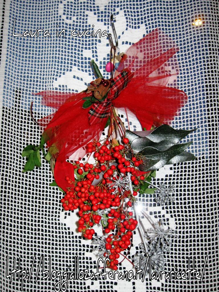 Ghirlanda natalizia decorazioni fai da te laura in cucina for Decorazioni cucina fai da te