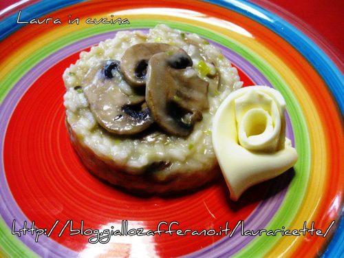 Risotto funghi,porro e le fettine Emmental