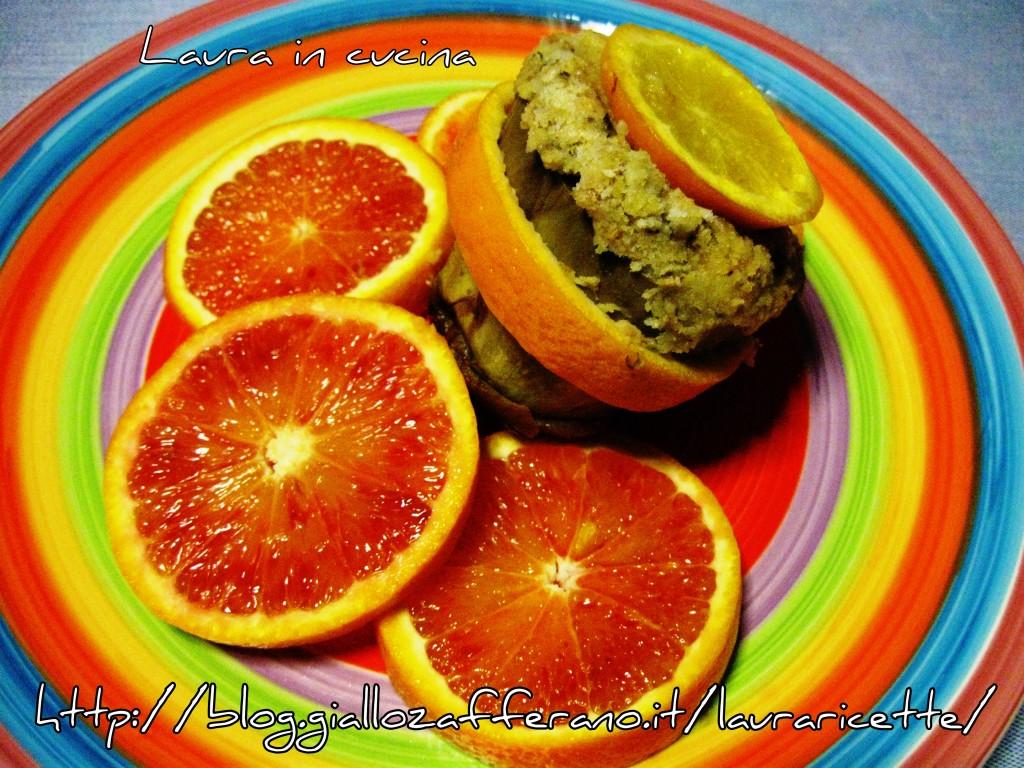Carciofi ripieni al profumo d'arancia ,ricetta saporita