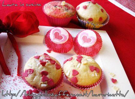 Muffins semplicissimi,ricetta per San Valentino