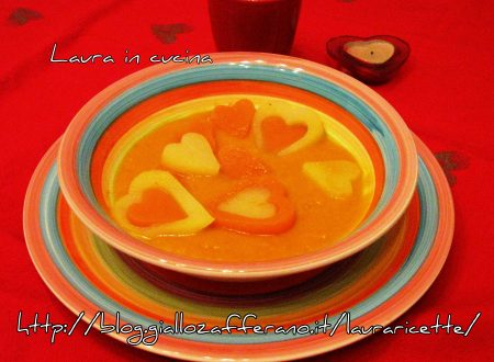 Crema di zucca ,ricetta di San Valentino