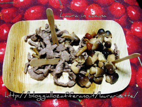 Straccetti di manzo e funghi di muschio