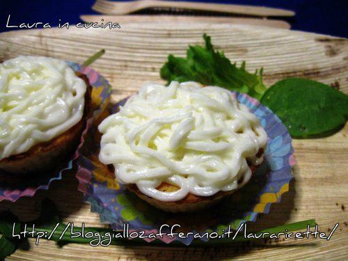 Muffins salati patate ,ricotta e mortadella,ricetta antipasti