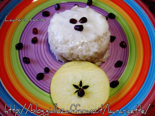 Risotto alla mela e squacquerone,ricetta primi piatti
