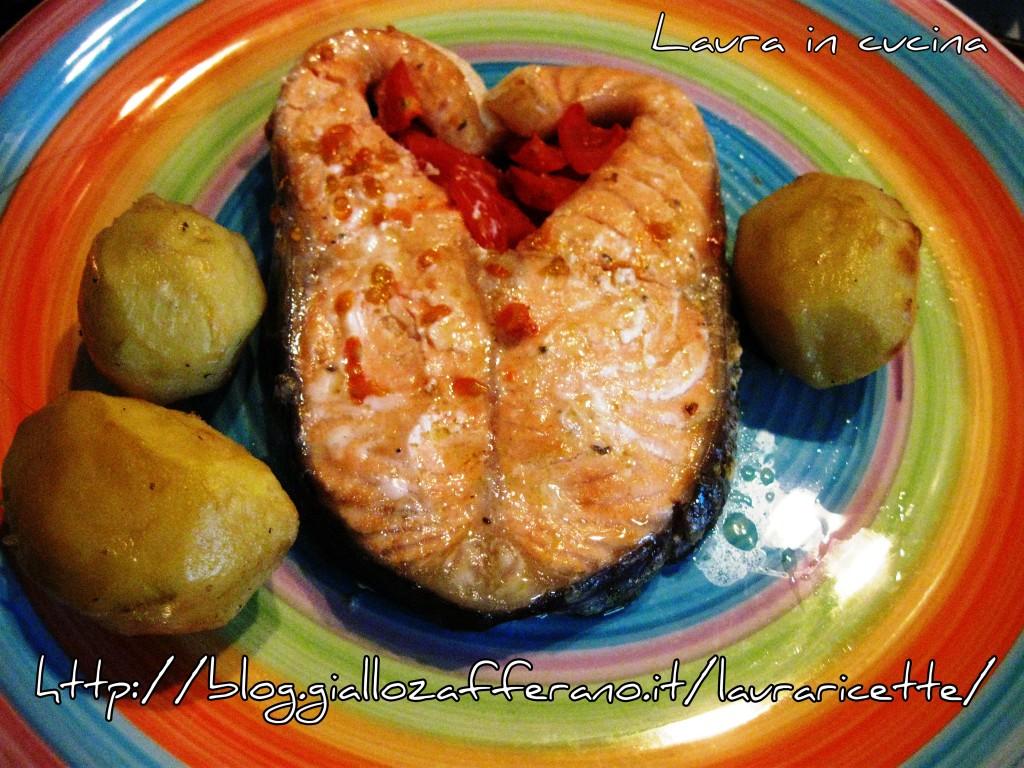 Salmone al forno,ricetta semplice