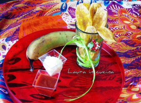 Patatine di plantano verde o Chips de bananes vertes,ricetta del mondo