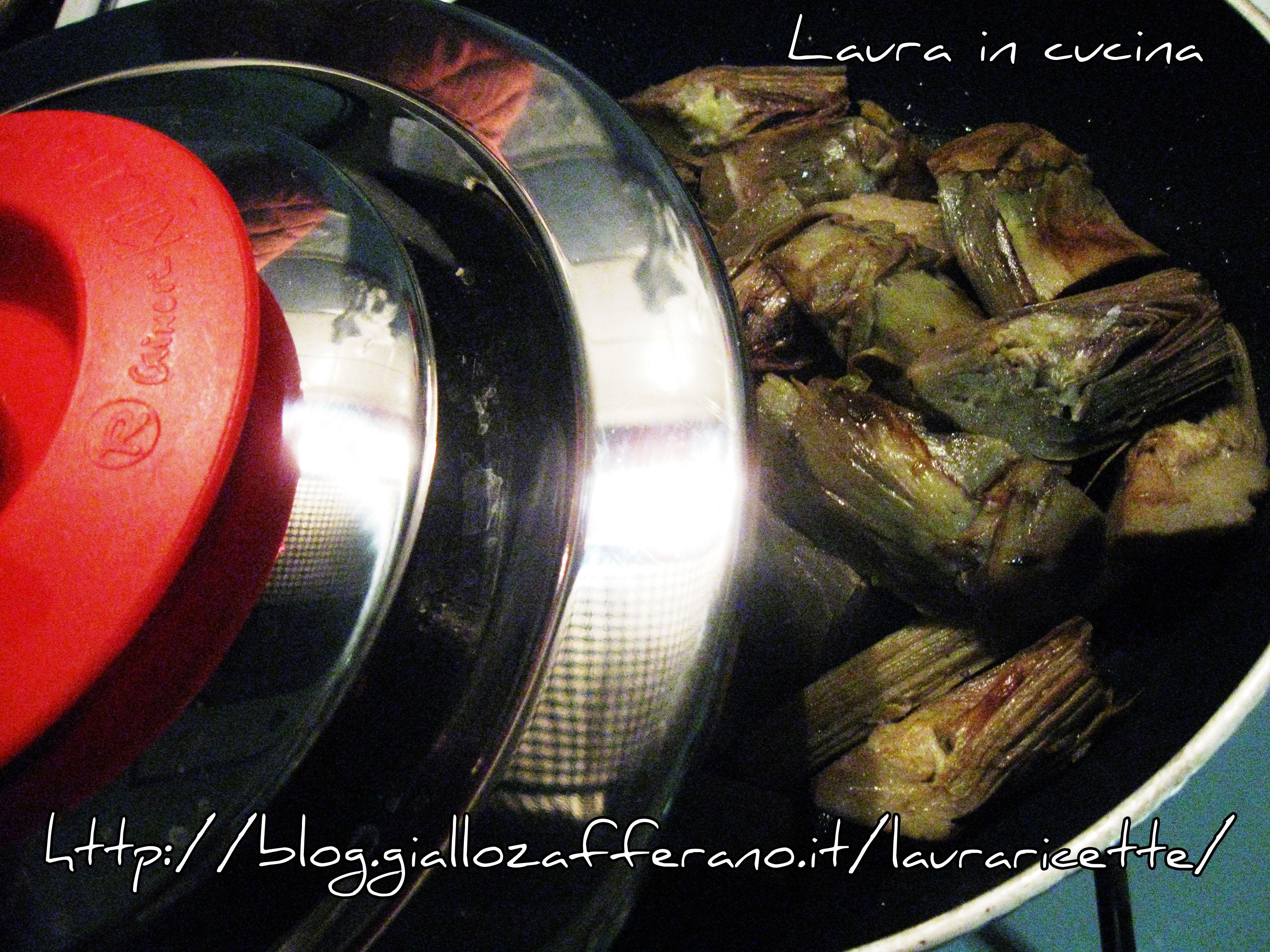 Carciofi a spicchi in padella ricetta semplice laura in - Inulina in cucina ...