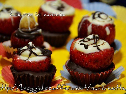 Fragole e cioccolato,ricetta finger food