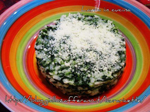 Risotto agli spinaci e formaggi,ricetta semplice