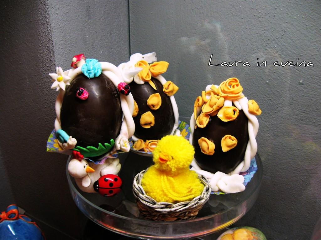 Uova di cioccolato decorate,ricetta fai da te